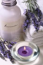 lavendar, candle